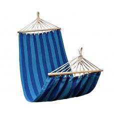 Гамак тканевый с планкой (45+200+45см) х 100см, хлопок, макс.нагрузка: 100кг:синий