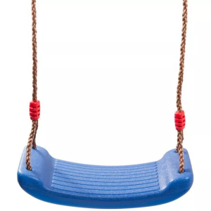 Качели детские подвесные пластиковые без спинки, h-2,1м Возраст-3-6лет. Нагрузка-60кг. (лодочка мал) синий