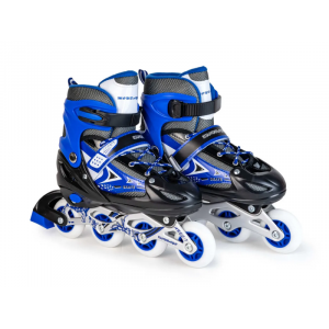 Ролики раздвижные: LED, светящ.колесо: размер L (38-41) упак.:пакет прозрачный: синие