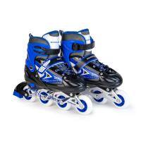 Ролики раздвижные: LED, светящ.колесо: размер M (34-37) упак.: пакет прозрачный; синие