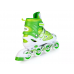 Ролики раздвижные: LED, светящ.колесо: размер M (34-37) упак.: пакет прозрачный; зеленые
