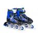 Ролики раздвижные: LED, светящ.колесо: размер S (30-33) упак.: пакет прозрачный:синие