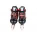 Ролики раздвижные: LED, светящ.колесо: размер S (30-33) упак.: пакет прозрачный:красные