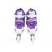Ролики раздвижные: LED, светящ.колесо: размер S (30-33) упак.: пакет прозрачный:фиолетовые