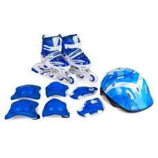 Набор (ролики+шлем+защита) размер S (27,30) мягкая упак.: синие