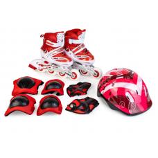 Набор (ролики+шлем+защита) размер S (27-30) мягкая упак.: красные