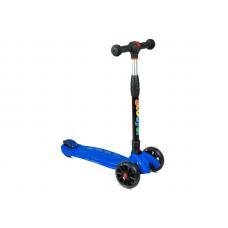 Самокат 3-х колесный нагрузка 80кг, св-ся колеса, micro maxi, h-60/66/72, PU 120/80мм, подшипник ABE синий
