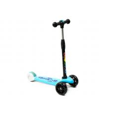 "Самокат ""Scooter"", SK-030, от 3х лет, 3х кол., пер. колеса PU: 137мм/35мм, с функ. подсв.; зад. Коле цв: голубой"