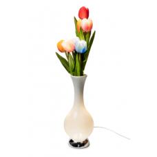 Светодиодные тюльпаны, 65см, в высокой вазе, с кнопкой, в под упак