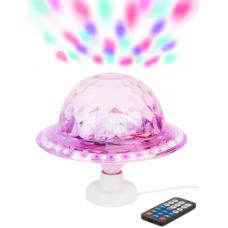 """Диско-Лампа """"НЛО"""" на подставке, вращающаяся, светодиодная, с разъемом USB, Блютузом, с пультом"""