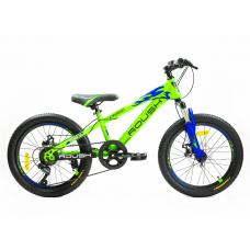 """Велосипед горный """"ROUSH"""" 20MD200-3 зеленый матовый"""