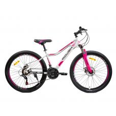 Велосипед горный ROUSH 26MD230-1 бело-розовый