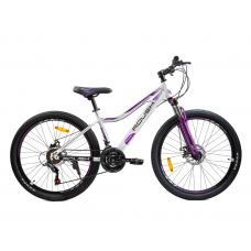 Велосипед горный ROUSH 26MD230-3 бело-фиолетовый